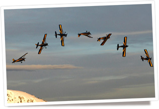 Aerobatic flight at Canadian Flight Centre